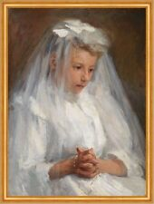 First Communion Caroline A. Lord Sakramente Erstkommunion Kind Kleid B A1 01014