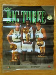 LARRY BIRD KEVIN McHALE ROBERT PARISH Big Three 3x Champs BOSTON CELTICS Poster