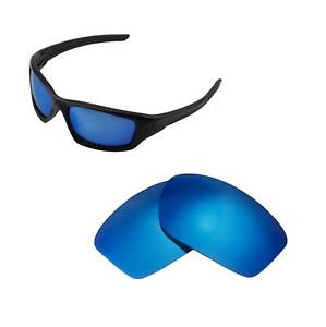 Walleva Polarized Ice Blue Replacement Lenses For Oakley New Valve (2014&after)