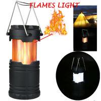 Mini LED Portable Light Lantern Outdoor Camping Hiking Light Flames Lamp Torch
