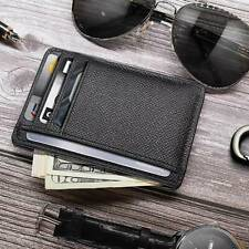Ultra Thin Mini Men's Small Wallet Business PU Leather Card Holder Purse NEW