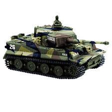 1:72 Portable Rc Battle Military Tank Mini King Tiger Tank W/Engine Sound D-Camo