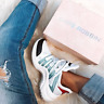 Cape Robbin THE ARCH Light Blue White Colorblock Mesh Lace Up Athleisure Sneaker
