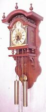 Figural Dutch Vintage Friesian Stoel Wall Fries Folklore Clock 8 Days Pendulum