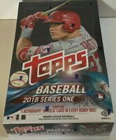 2018 Topps Baseball Series 1 Hobby Box-Auto RC-Devers, Buehler, Flaherty, Albies