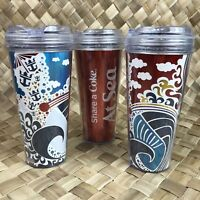 Royal Caribbean Insulated Share a Coke Coca Cola Travel Cup Mug w/ Lid 2015 Set
