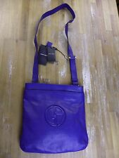 GIORGIO ARMANI mainline blue leather crossbody messenger bag authentic - NWT