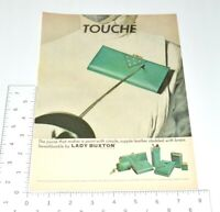 Lady Buxton Vintage Print Ad 1967 Swashbuckle Purse Fencing Epee Green Leather