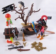 PLAYMOBIL VINTAGE 3858 PIRATES BRAIDED BEARD'S TREASURE-COLLECTOR-COMPLETE-EXC