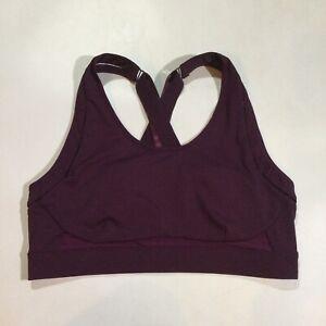 Fabletics Women's Plus Size 2X Belle High Impact Adjustable Sports Bra Burgundy