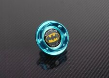 SCREW ON ALUMINUM CNC HK-S BLUE/GREEN BATMAN BILLET ENGINE OIL CAP FILLER COVER