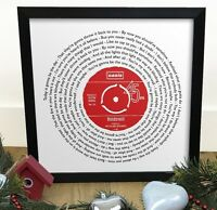 Oasis Wonderwall | Vinyl Single 12 Inch LP Size Print | Framed Record Gift