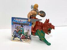 He-Man Battlecat / MotU Vintage / Masters of the Universe Original Figur + Comic