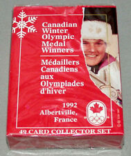 Official 1992 Albertville Canadian Winter Olympic Medal Winners Sealed Card Set