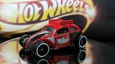 HOT WHEELS CUSTOM VOLKSWAGEN BEETLE Red Version Clear Windows Gray Interior
