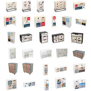 Mini Kommode Holz Schränkchen Schubladen Schmuck Aufbewahrung Organisation