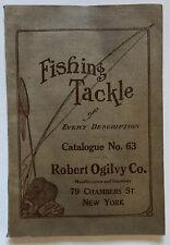 RARE Antique ROBERT OGILVY CO. Fishing Tackle Catalogue No. 63 / NYC / 121 Pages