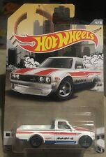 2016 Hot Wheels Trucks White Datsun 620 ERROR No Interior