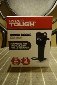 Hyper Tough Round Hooks 3 Pack Each Box. Hangers, Peg Boards,Tools NEW