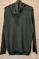 Kinross Cashmere Size S Green Blue Teal Mock Neck Dolman Sleeve Pullover Sweater