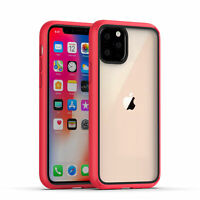 For iPhone 11 pro Max Rugged Case Soft TPU Shockproof Hybrid Clear Back Cover
