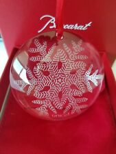 NEW in Box BACCARAT Crystal Unicef Snowflake Annual Ornament - Special Edition