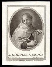 santino incisione 1800 S.GIOVANNI DELLA CROCE