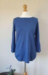 Peter Hahn New Silk Cashmere Round Neck Jumper Sweater Size 12