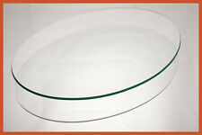 """14"""" x 19"""" Oval Clear """"BENT"""" Glass Plate 1/8"""
