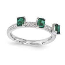 Anelli di lusso smeraldo smeraldo Misura anello 6