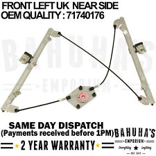 ALFA ROMEO 159 939 2.0D Electric Window Regulator Rear Right 09 to 11 Mechanism