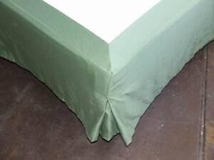 HanWest25 Betthusse Bettlaken Skirting grün für Boxspringbetten 180 x 200 cm