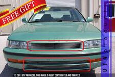 GTG, 1990 - 1993 HONDA ACCORD 3pc CHROME UPPER & BUMPER BILLET GRILLE KIT