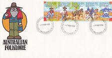 "1980 Australian Folklore """"Waltzing Matilda"""" Fdc - Mount Hawthorn Wa 6016 Pmk"
