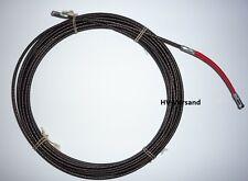 Runpotec Spirale Metall, D=4mm, mit Powergleiter rot, L=15m 30018