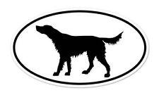 "Irish Setter Dog Breed Shape Oval car window bumper vinyl sticker 5"" x 3"""