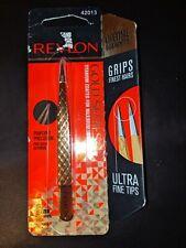 Revlon Point Tweezers Gold Series Titanium Coated Pinpoint Precision 42013