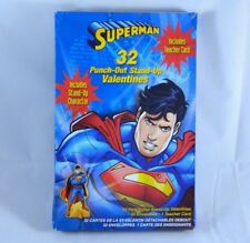 32 Count Superman Punch-out Stand-up Valentines Day Cards Includes Teacher Card