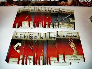 EQUIPMENT CARDS of BLACK PLAGUE (English) Zombicide Black Plague / Green Horde