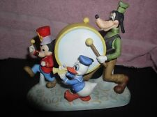 Marching Band Goofy Donald Duck  Mickey Walt Disney Productions porcelain fig