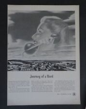 Original Print Ad 1948 BELL TELEPHONE SYSTEM Journey of a Word Vintage Art
