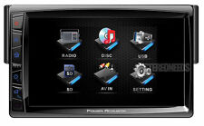 "POWER ACOUSTIK PD-712 IN-DASH SINGLE 1 DIN DVD/CD PLAYER 7"" TOUCHSCREEN MONITOR"