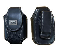 Reiko Extra Small Flip Phone Pouch Holster Case with 360 Rotating Belt Clip