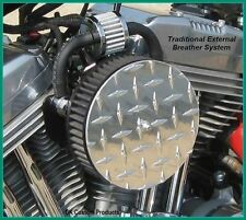FITS HARLEY SPORTSTERS 1991 - UP COMPLETE CRANKCASE HEAD CHROME BREATHER KIT