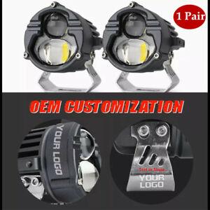 1 Pair/Set 60W 6000K DC9V-85V External LED Headlights Waterproof Universal Set