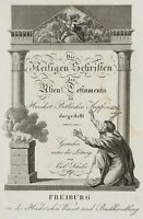 SCHULER(19.Jh) Frontispiz, Die Heiligen Schriften des Alten Testaments, Kupferst