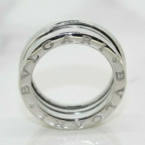 BVLGARI B.Zero1 Three-Band 18ct White Gold Ring (Size J 1/2, US 5)