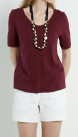 NEW White Stuff Nevai Embroidered Burgandy Jersey Tee Was £39.95 Now £10