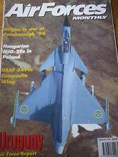 AFM AIR FORCES MONTHLY MAG SEPT 1996 GRIPEN HUNGARY MiG-29s POLAND URUGUAY AF