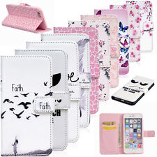 Flip Wallet PU Leather Case Pouch Cover Stand Card Holder Bookstyle Feather Love